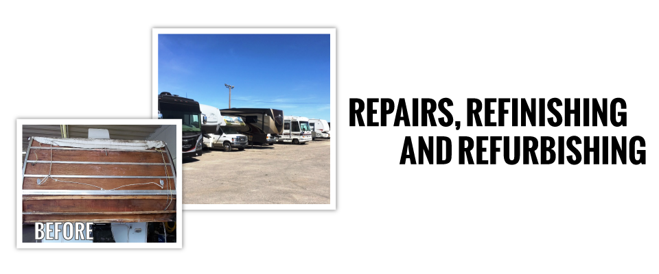 repairs, refinishing and refurbishing | before damage rv | group of rvs